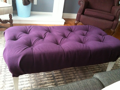 Creative Space Diy Ottoman From Coffee Table