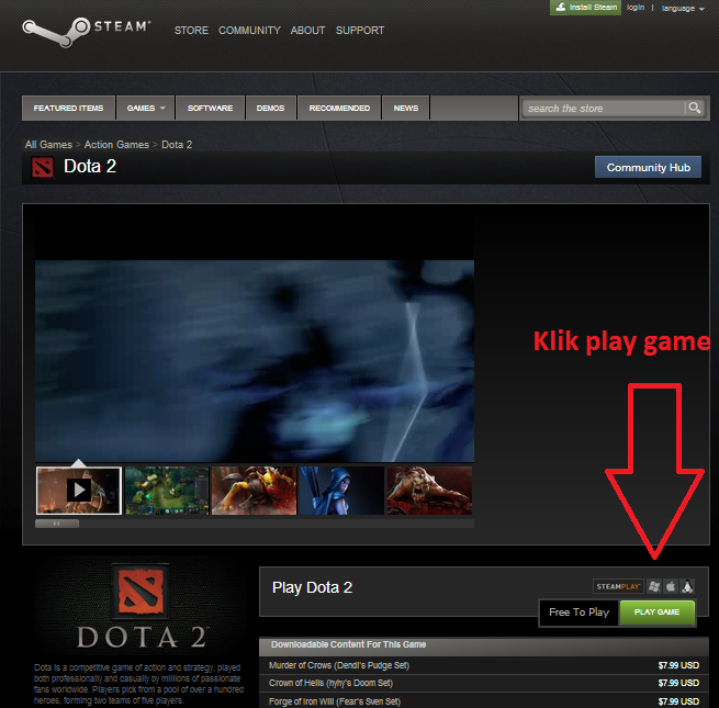 dota 2 install free download steam