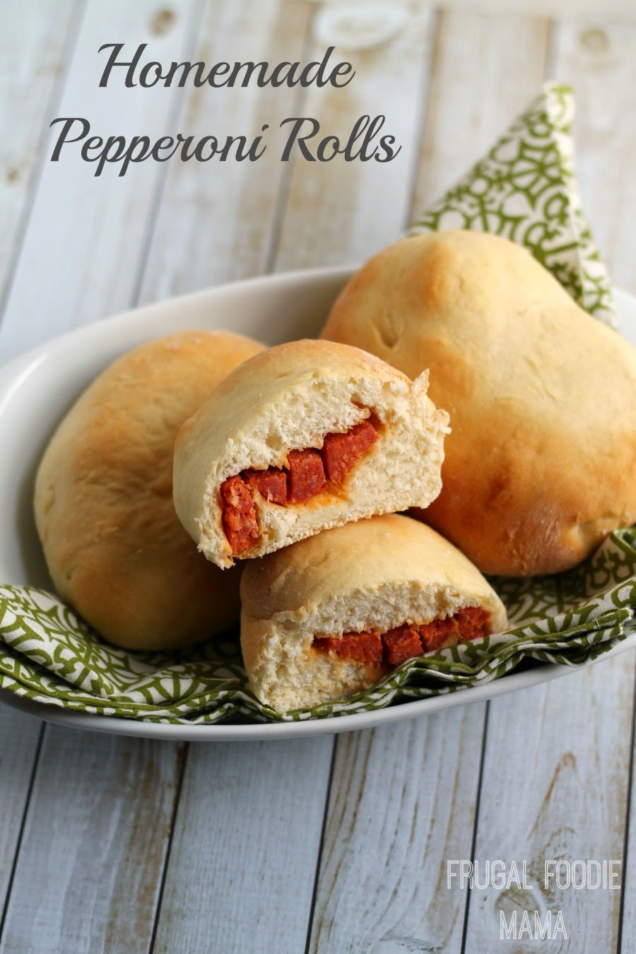 Homemade Pepperoni Rolls- spicy pepperoni enveloped in a soft yeast roll #DoUsAFlavor #CleverGirls