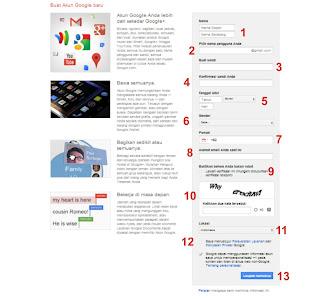 Formulir Pendaftaran Google Plus