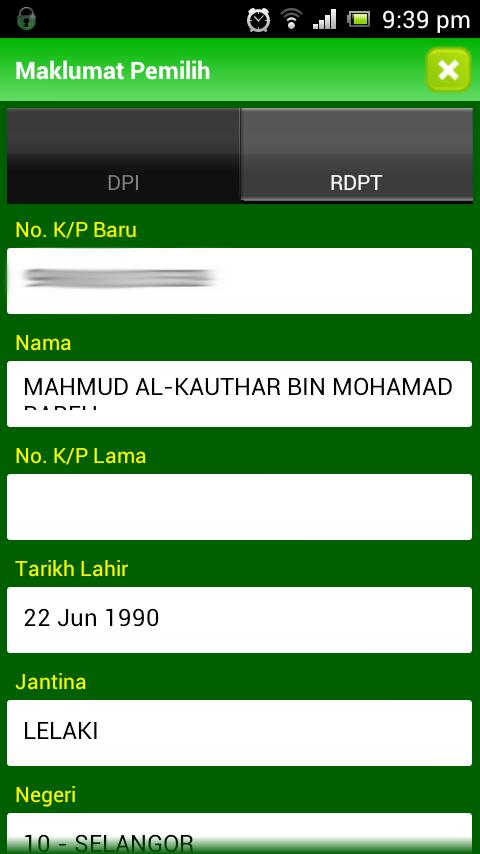 14 Semakan Pemilih PAS Lancar Aplikasi Android Touch `n Get (TnG)