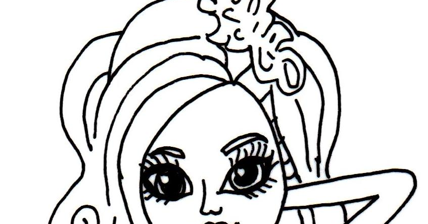 Free Printable Monster High Coloring Pages Lagoona Blue Frights Camera Action Sheet