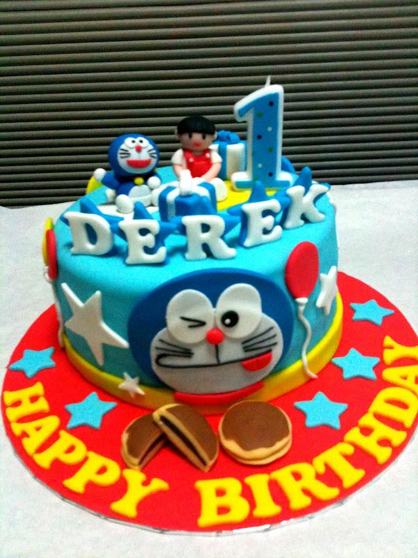 Doraemon Birthday Cake Design : Oven Creations: Happy 1st Birthday Derek