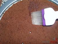 Tarta puro chocolate-bizcocho emborrachado