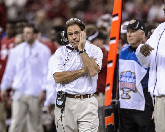Nick Saban tries to revise Alabama's history of struggles against hurry-up no huddle offenses.