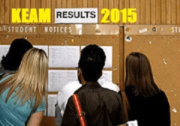 KEAM 2015 Results by CEE Kerala