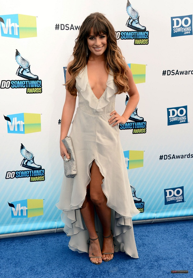 Glee Actress Lea Michele Stunning in Giorgio Armani Dress