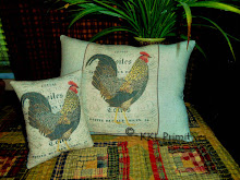 SET OF 2 - CHICKEN/ROOSTER PILLOW TUCKS