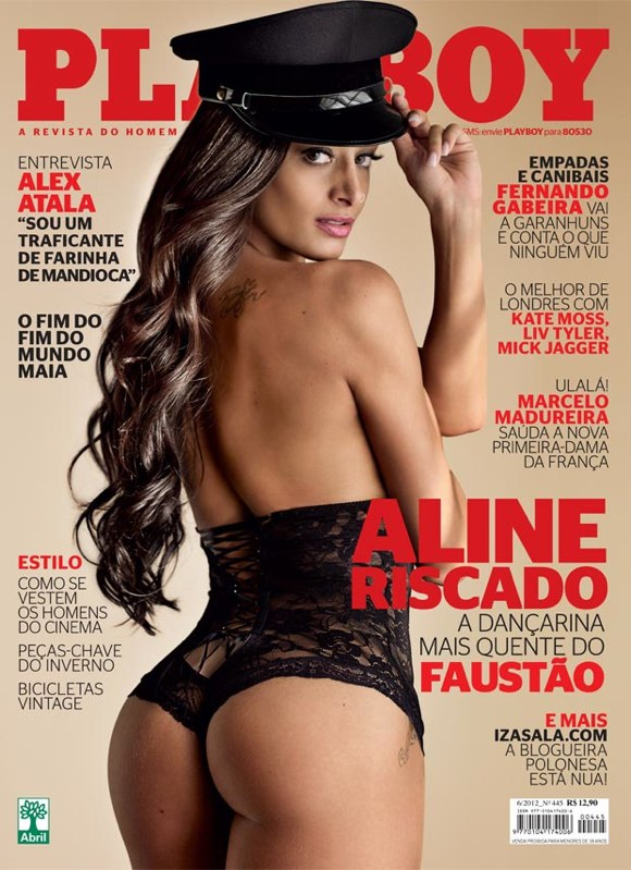 Aline Riscado na capa da revista Playboy de junho Revista Playboy – Aline Riscado Junho (2012)