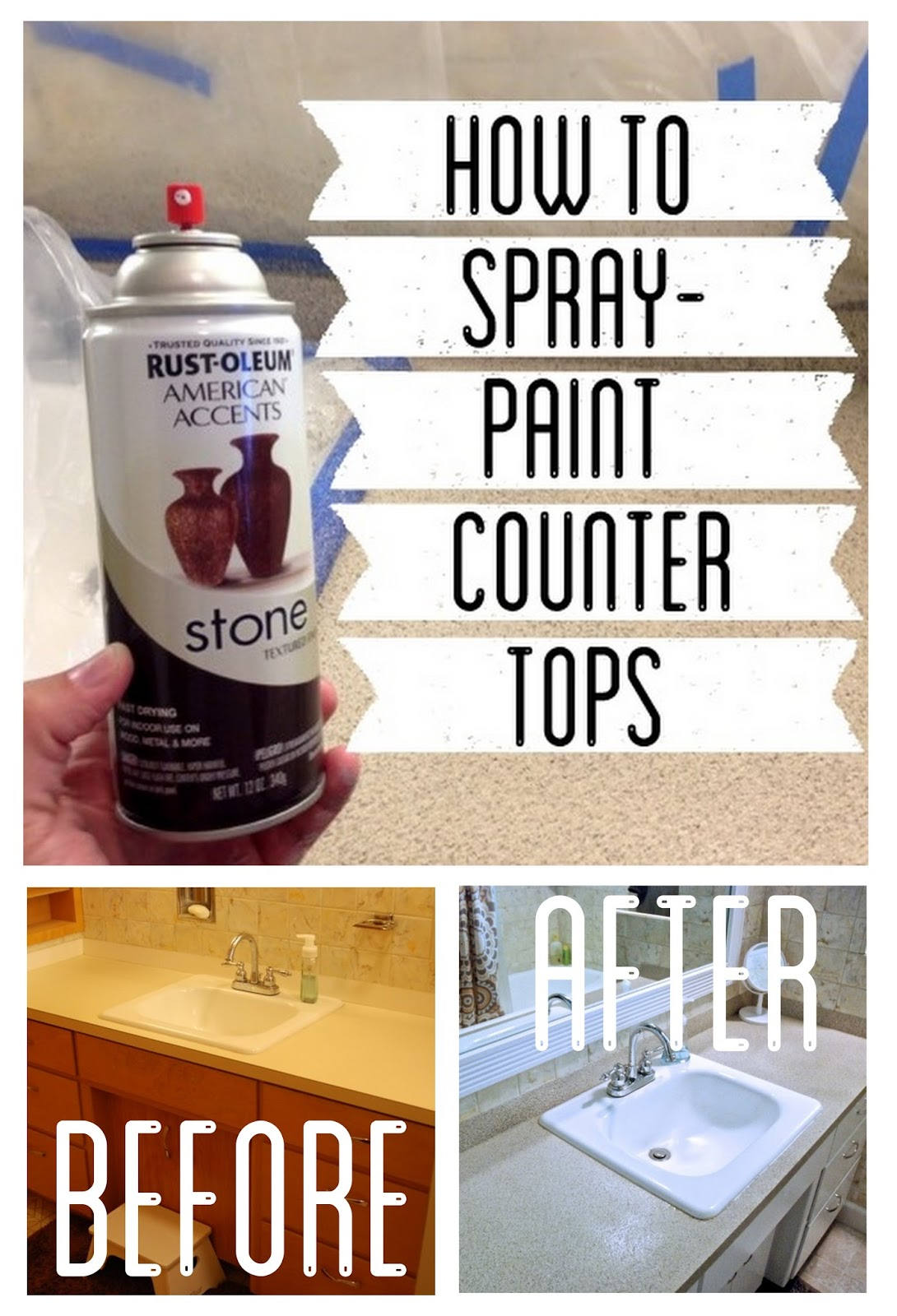 How to spray paint countertops for Can you paint granite countertops