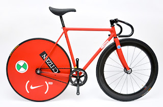 racing rear red wheel fixed gear