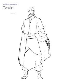 avatar legend of korra coloring pages tenzin
