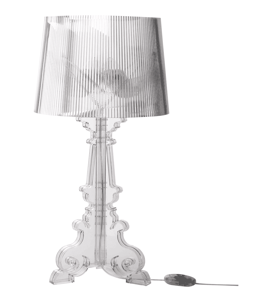 kartell clear bourgie baroque style table lamp. Black Bedroom Furniture Sets. Home Design Ideas