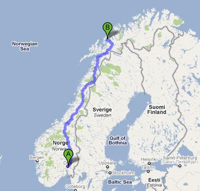 Robbie Tice Canadian Footballer Trip To Tromsø - Norway map tromso