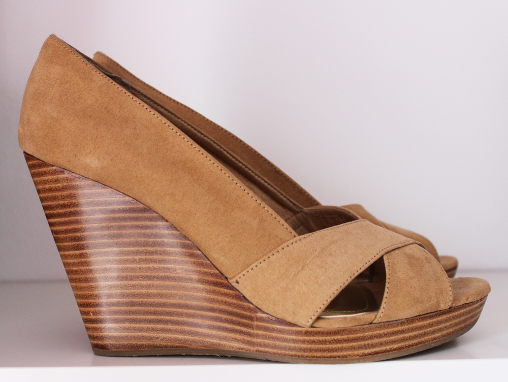 Nude wedges from H&M for the bargain prize of £25!