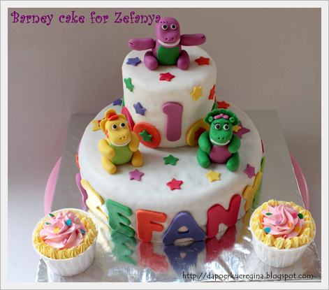 Barney Birthday Cake on Regina S Cakery  Barney Cake For Zefanya 1st Bday