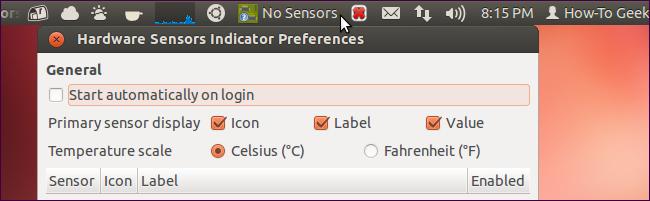 硬體監控 Hardware Sensors Indicator