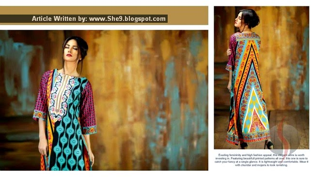 Subhata Kurti 2015 by Shariq Textile