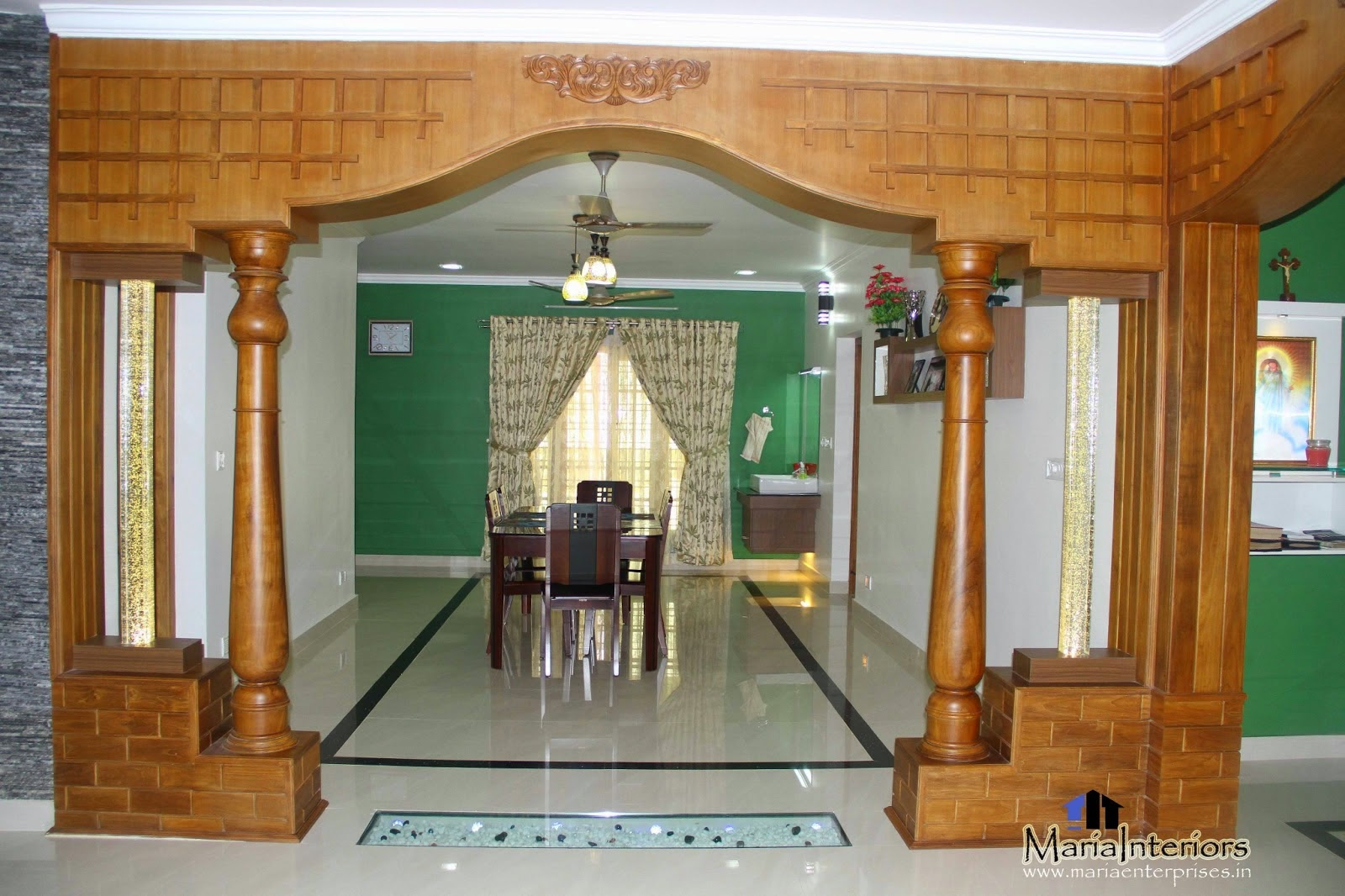 Kerala interior design dining room interior design for Dining room designs kerala