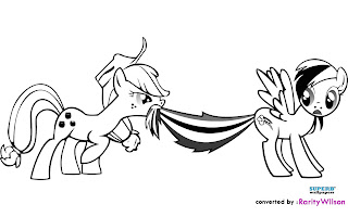 Apple Jack and Rainbow Dash Coloring Pages My Little Pony