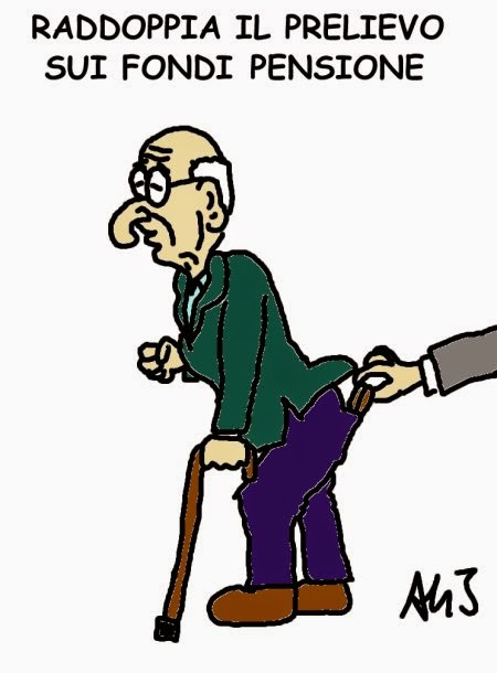 pensioni, tasse, governo, legge stabilità, satira, vignetta