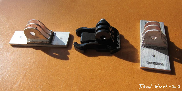 homemade gopro camera bracket, mount, aluminum,