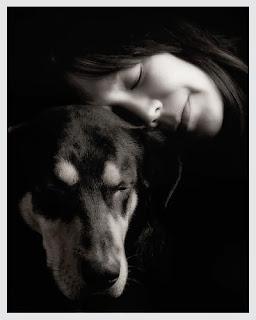 Jill Flynn and dog