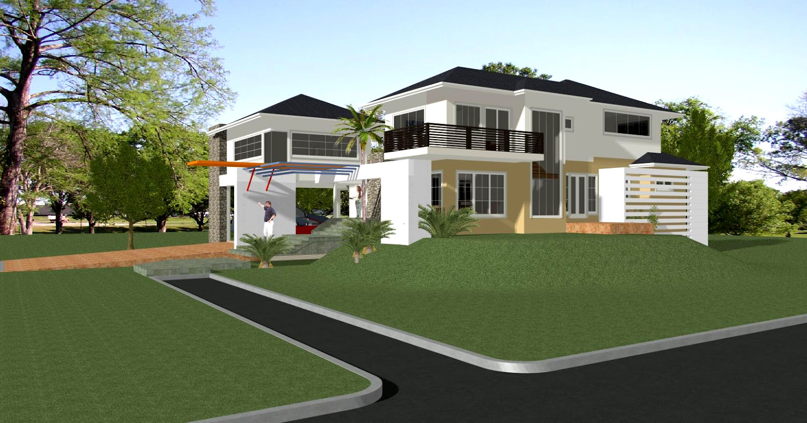 House designs in the philippines in iloilo by erecre group for Estate home plans designs