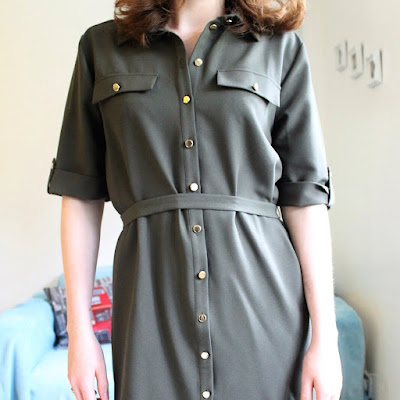 Khaki Shirt Dress Miss Selfridge Fashion Bloggers Fbloggers
