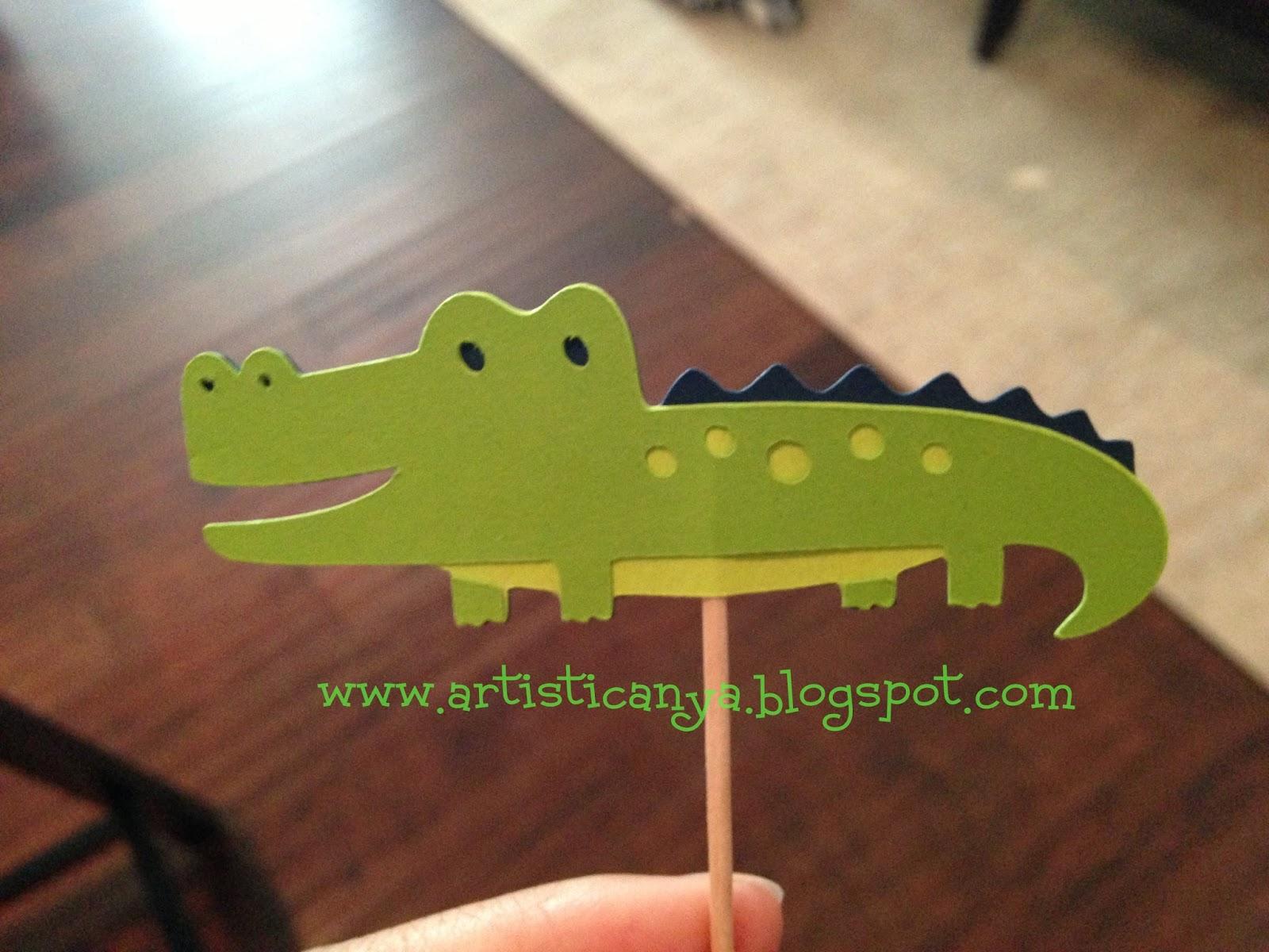 Artistic Anya Designs Alligator Themed Baby Shower