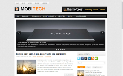 Template MobiTech para Blogger