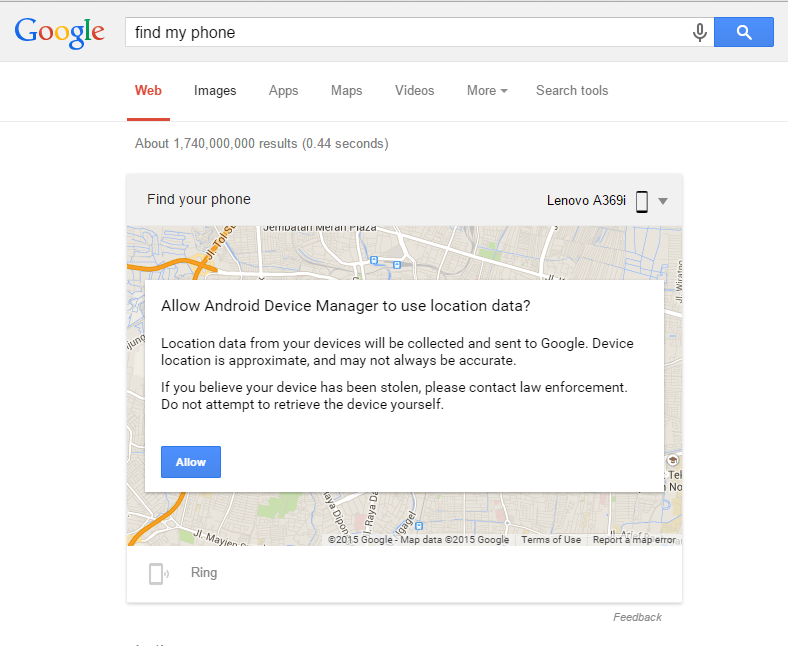 how to find phone with google