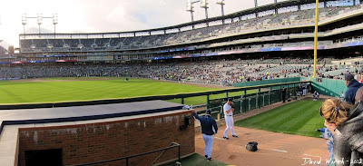 detroit tigers, stadium, seat view, pitcher bullpen, coach