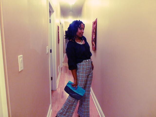 Vintage plaid pants