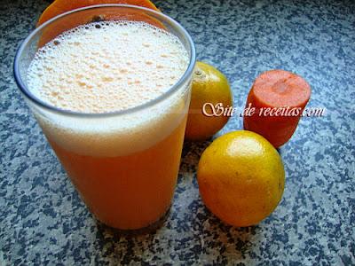 Suco antioxidante: laranja cenoura e mamão