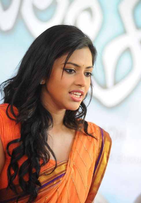 amala paul new saree glamour  images