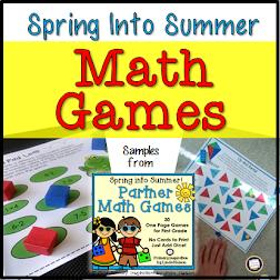 One Page Math Game Freebies!