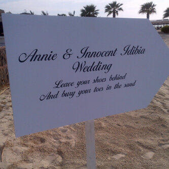 Description to 2face's wedding venue