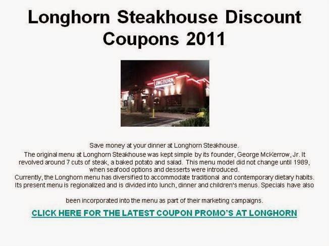 Longhorn coupons