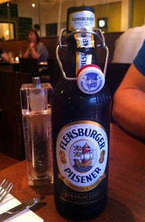 Stitch and Bear - Flensburger beer at Gourmet Burger Company Ranelagh
