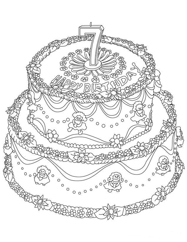 ... para colorear dibujos para pintar feliz cumpleanos para imprimir