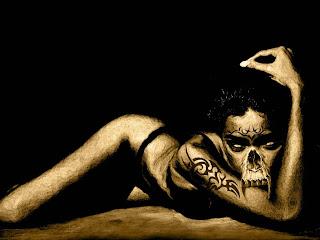 Devil Girl Dark Gothic Wallpaper