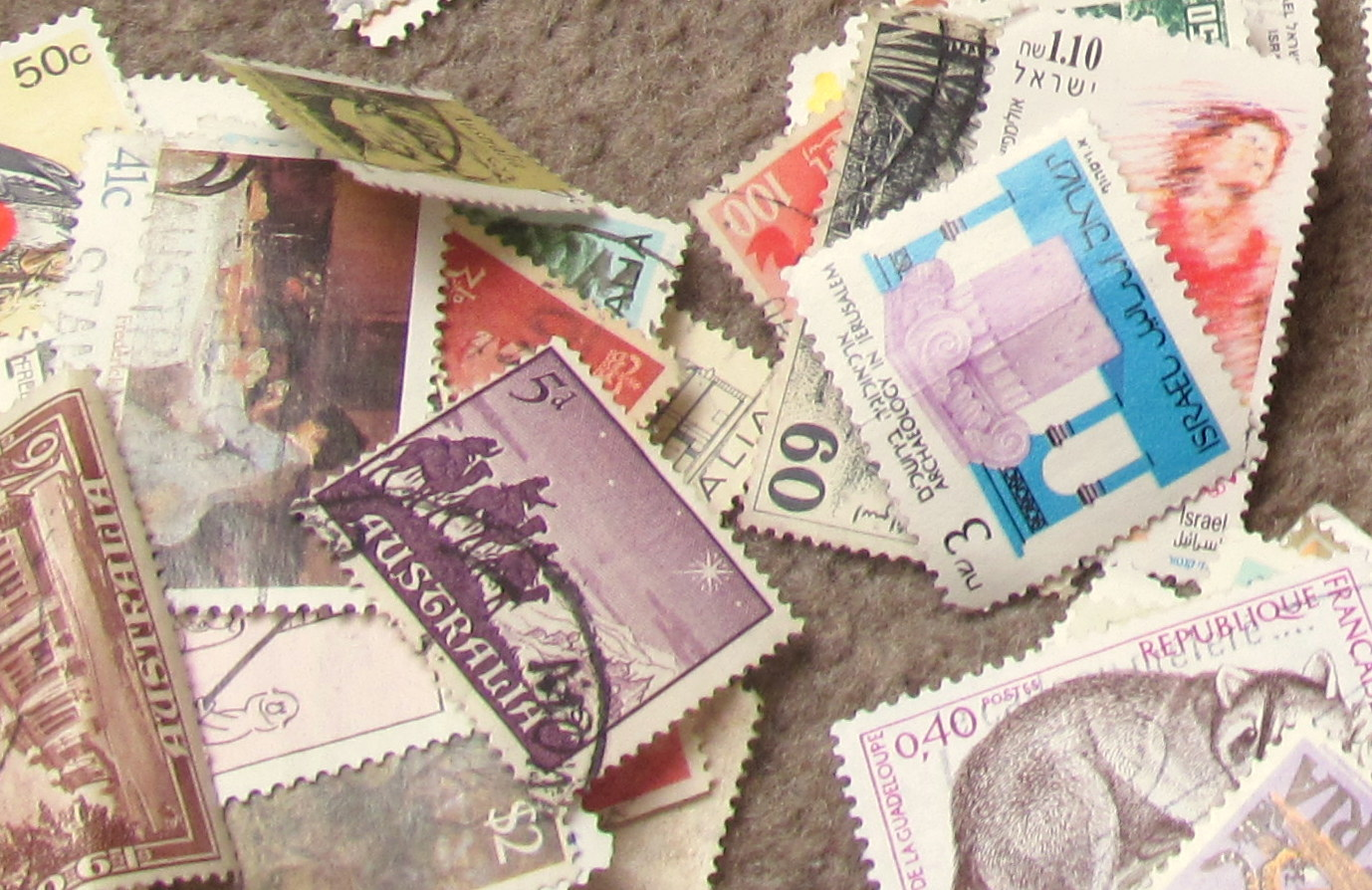 used postage stamps