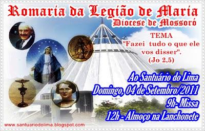 Romaria da Legião de Maria no Santuário do Lima em Patu-RN