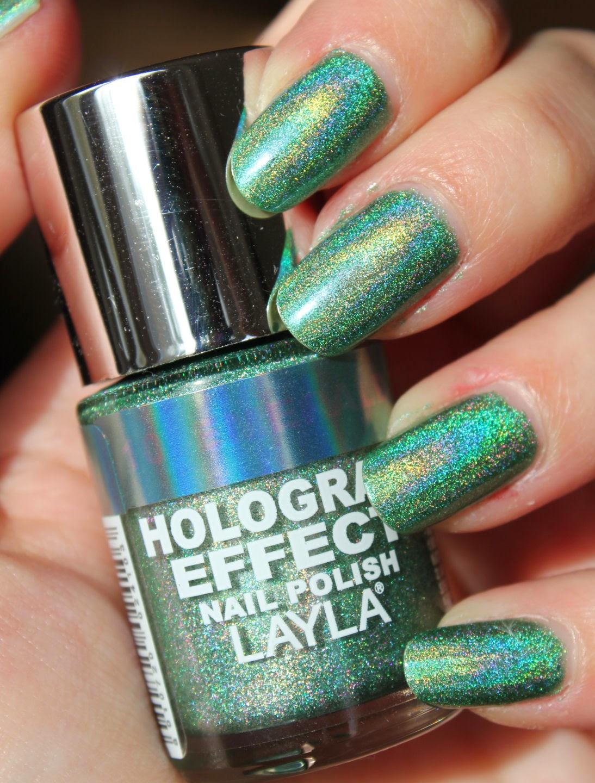 http://lacquediction.blogspot.de/2013/11/layla-hologram-effect-10-emerald-divine.html