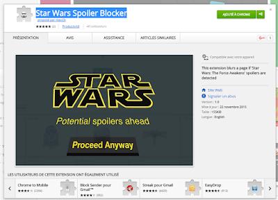 Evita spoilers de la nueva peli de Star Wars con Chrome