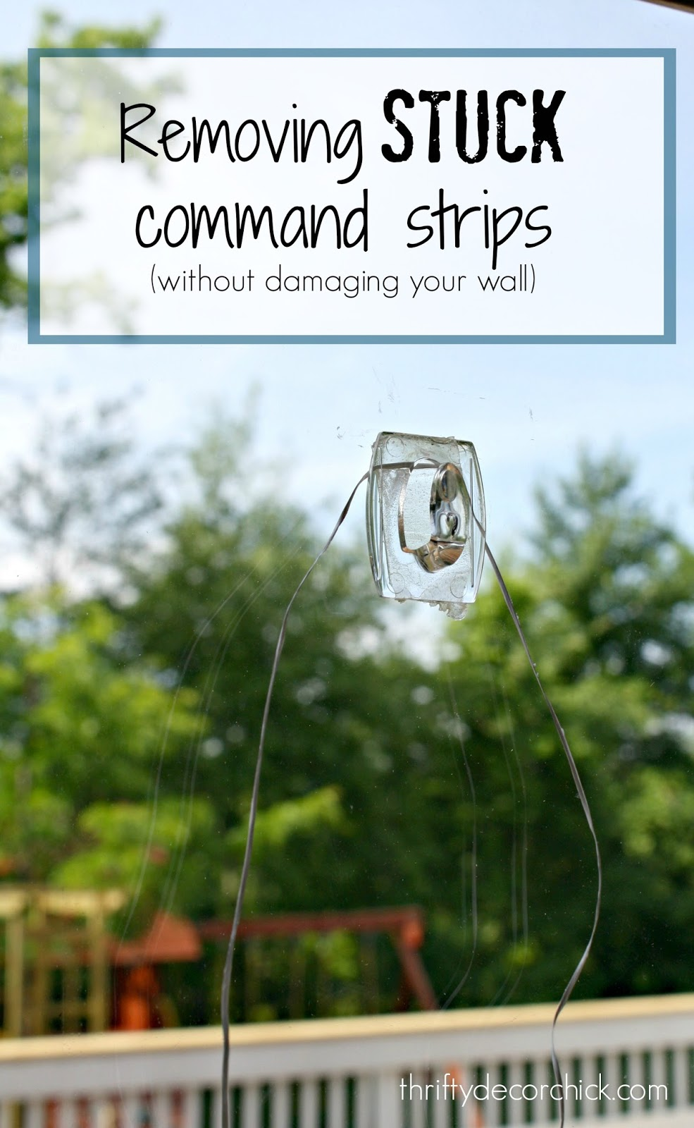 removing stuck command strips