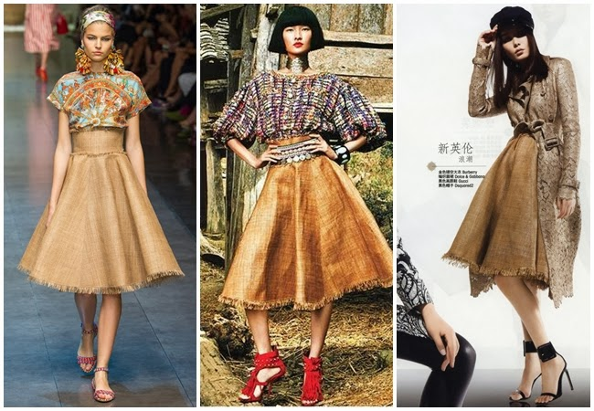 Dolce&Gabbana 2013 SS- Raffia midi skirt