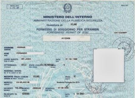 Nuovo modello cartaceo per il Permesso di soggiorno | STUDIO ...