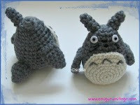 small crochet totoro tail